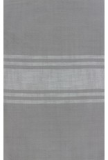 "Urban Chiks Woven Toweling, 16"" wide, Urban Cottage Grey with Ivory Stripe, by the yard"