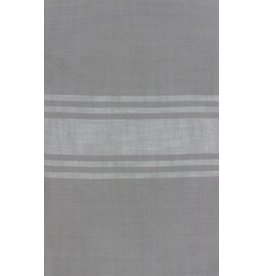 """Urban Chiks Woven Toweling, 16"""" wide, Urban Cottage Grey with Ivory Stripe, by the yard"""