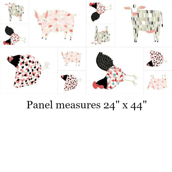 "Gingiber Farm Fresh, Panel in Multi, 24"" Fabric Panel 48260 11"