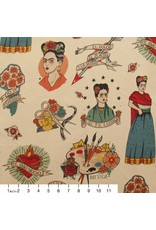 PD's Alexander Henry Collection Folklorico, Todo Para Ti in Light Taupe, Dinner Napkin