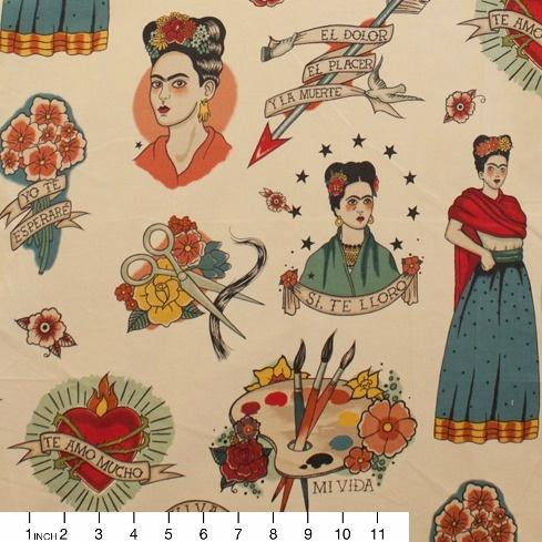 Alexander Henry Fabrics Folklorico, Todo Para Ti in Light Taupe, Fabric Half-Yards 8307C
