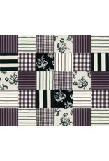 Urban Chiks Urban Cottage, Cheater Patchwork in Black and Ivory, Fabric Half-Yards 31135 16