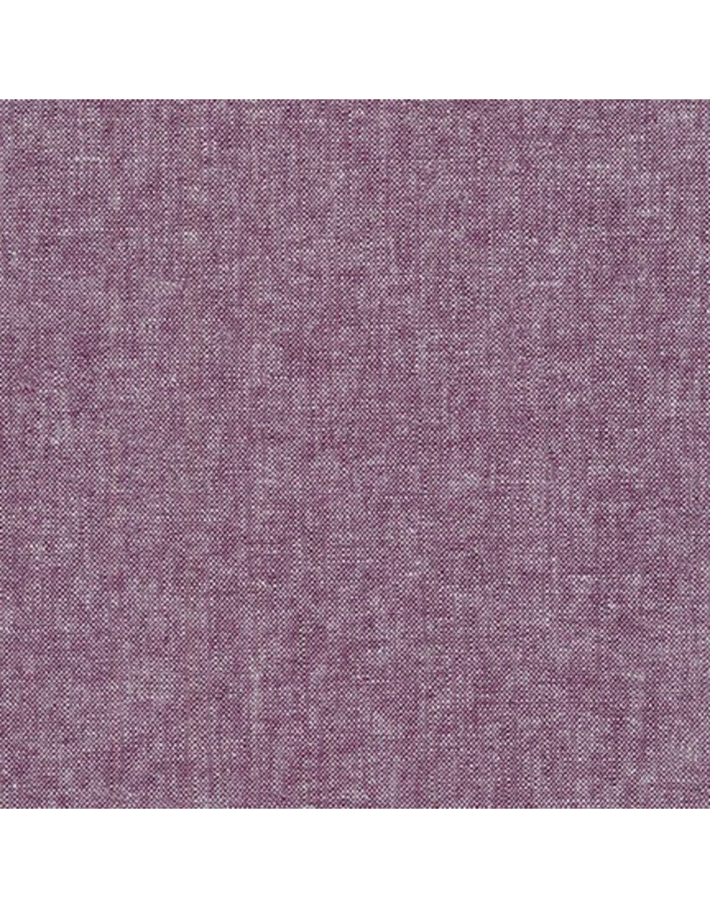 Robert Kaufman Linen, Essex Yarn Dyed in Eggplant, Fabric Half-Yards E064-1133 (Clava Inspiration)