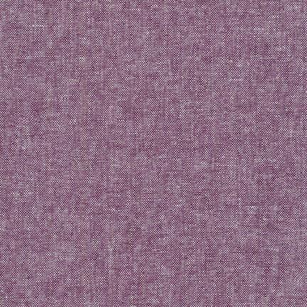 Robert Kaufman Linen, Essex Yarn Dyed in Eggplant, Fabric Half-Yards E064-1133