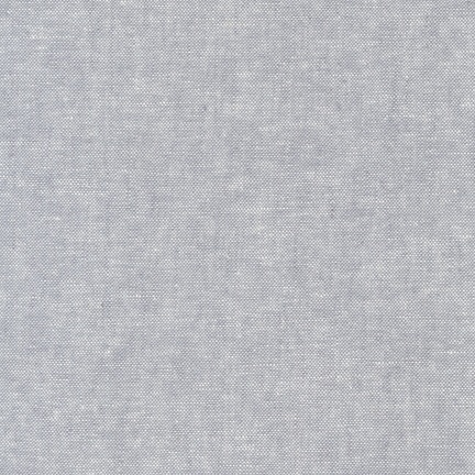 Robert Kaufman Linen, Essex Yarn Dyed in Steel, Fabric Half-Yards E064-91