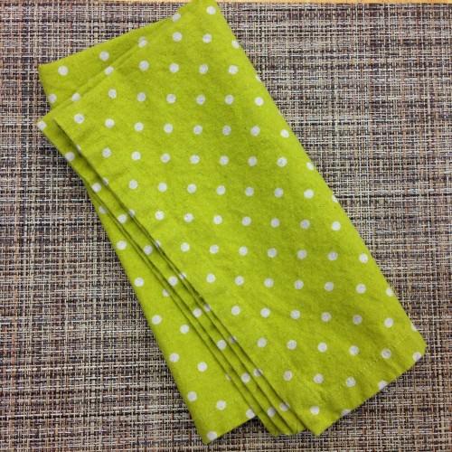 PD's Linen Blend Collection Linen Mochi Dot in Tangerine, Dinner Napkin