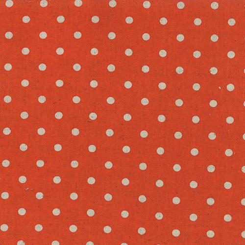 Moda Linen Mochi Dot in Tangerine, Fabric Half-Yards 32910 17
