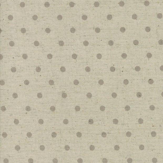 Moda Mochi Homegrown Putty Dot on Natural Linen, Fabric Half-Yards 32910 63L