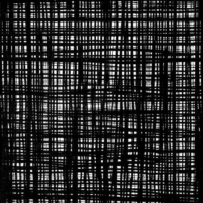PD's Alexander Henry Collection A Ghastlie Weave in Black and White, Dinner Napkin