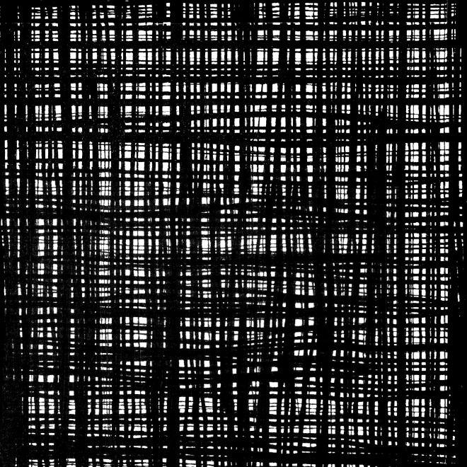 Alexander Henry Fabrics The Ghastlies, A Ghastlie Weave in Black and White, Fabric Half-Yards 8593A