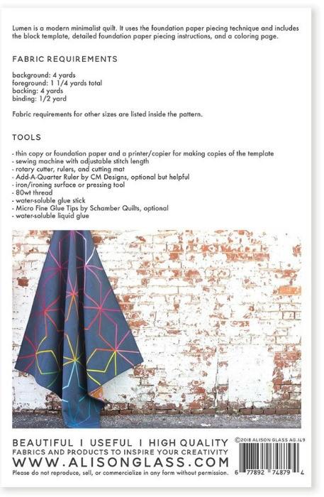 Alison Glass Alison Glass's Lumen Quilt Pattern