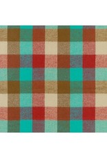 Robert Kaufman Yarn Dyed Cotton Flannel, Durango Flannel in Teal, Fabric Half-Yards SRKF-17138-213