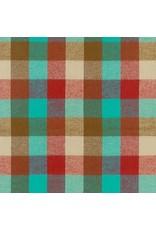 Robert Kaufman Yarn Dyed Cotton Flannel, Durango Flannel in Teal, Fabric Half-Yards SRKF-17138-213
