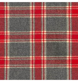 Robert Kaufman Yarn Dyed Cotton Flannel, Mammoth Flannel in Red, Fabric Half-Yards SRKF-16426-3