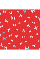 Cotton + Steel Once Upon a Time, Flying Ribbon in Red, Fabric Half-Yards OE104-RE2