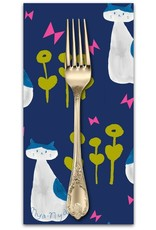 PD's Cotton + Steel Collection Once Upon a Time, Nya Nya Cats in Navy, Dinner Napkin