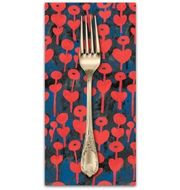 PD's Cotton + Steel Collection Once Upon a Time, Love Flower in Red, Dinner Napkin