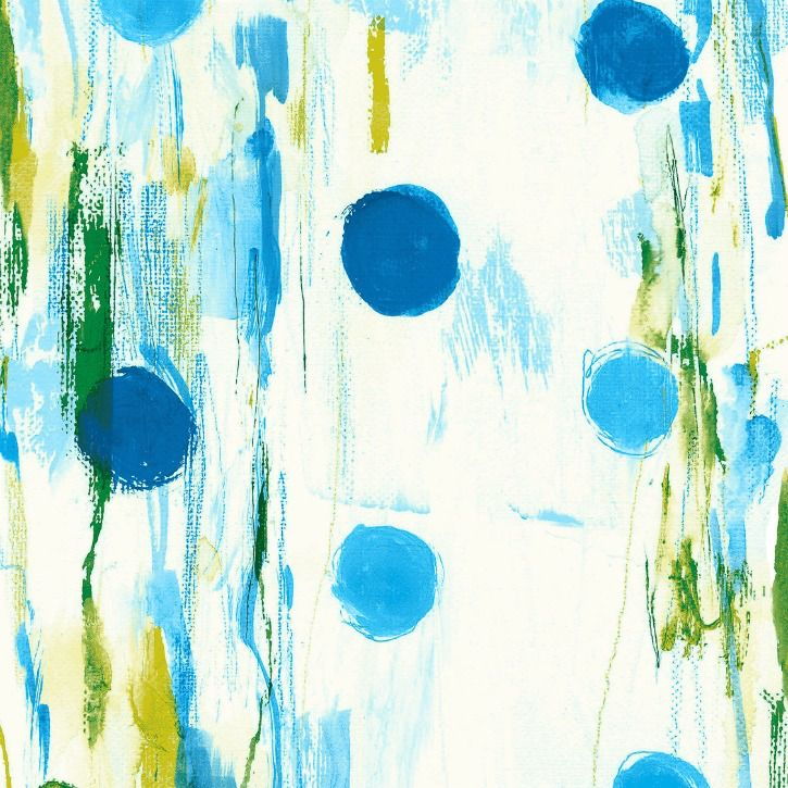 PD's Cotton + Steel Collection Once Upon a Time, Flower Rain in Blue, Dinner Napkin