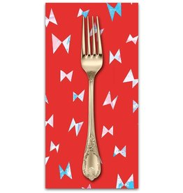 PD's Cotton + Steel Collection Once Upon a Time, Flying Ribbon in Red, Dinner Napkin