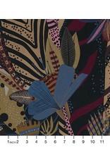 Alexander Henry Fabrics Nicole's Prints, Nyara in Coffee, Fabric Half-Yards 8724B