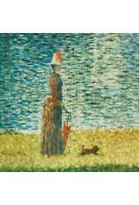"Robert Kaufman ON SALE-Seurat, Seine at Courbevoie 1884, 24"" Fabric Panel SRKD-18472-268 Nature"