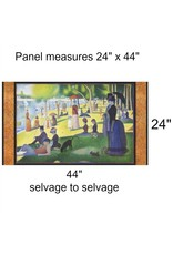 "Robert Kaufman ON SALE-Seurat, Sunday Afternoon on the Island of la Grande Jatte 1886, 24"" Fabric Panel SRKD-18469-269 Park"