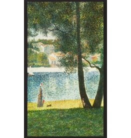 "Robert Kaufman ON SALE-Seurat, Seine at Courbevoie 1884, 24"" Fabric Panel SRKD-18472-268 Nature"