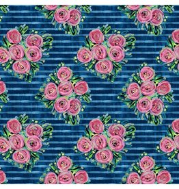 Jennifer Paganelli St. John, Lucia in Blue, Fabric Half-Yards PWJP148