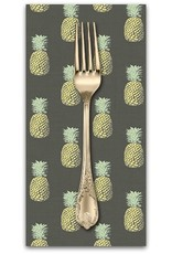 PD's Andover Collection Fern Garden, Pineapple in Grey, Dinner Napkin