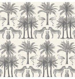 Andover Fabrics Fern Garden, Palm In Grey, Fabric Half-Yards TP-2073-S