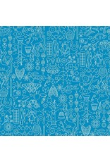 """Alison Glass Sun Print, Collection in Sailboat, Fabric Half-Yards A-9036-B (ONE 14"""" PIECE REMAINING)"""