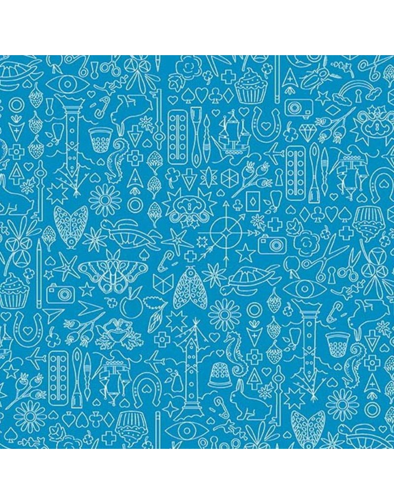 Alison Glass Sun Print 2019, Collection in Sailboat, Fabric Half-Yards A-9036-B