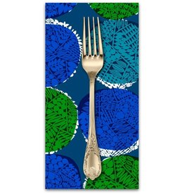 PD's Cotton + Steel Collection Safari, Nest in Blue, Dinner Napkin