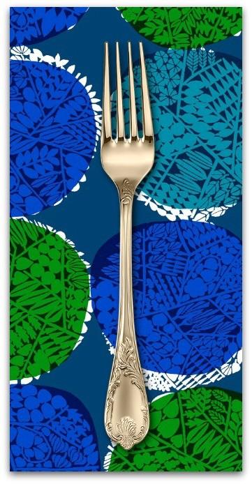 PD's Cotton + Steel Collection Safari, Nest in Blue, Dinner Napkin
