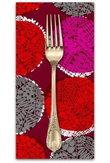 PD's Cotton + Steel Collection Safari, Nest in Red, Dinner Napkin