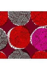 Cotton + Steel Safari, Nest in Red, Fabric Half-Yards MS102-RE2