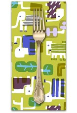 PD's Cotton + Steel Collection Safari, Elephant Walk in Leaf, Dinner Napkin