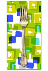 PD's Cotton + Steel Collection Safari, Roar in Lime, Dinner Napkin
