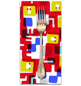 PD's Cotton + Steel Collection Safari, Roar in Red, Dinner Napkin