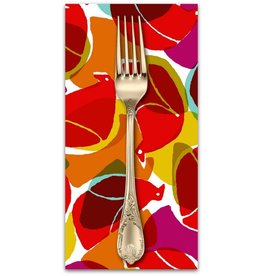 PD's Cotton + Steel Collection Safari, Tweet in Red, Dinner Napkin