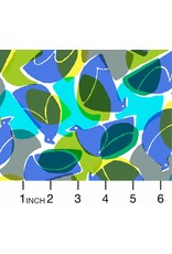 Cotton + Steel Safari, Tweet in Blue, Fabric Half-Yards MS103-BL2