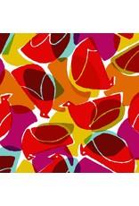 Cotton + Steel Safari, Tweet in Red, Fabric Half-Yards MS103-RE1
