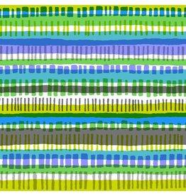 Cotton + Steel Safari, Crossing in Blue, Fabric Half-Yards MS105-BL2