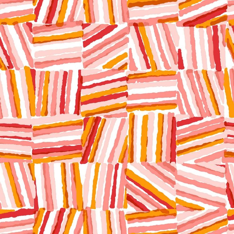 Cotton + Steel Safari, Stacks in Red, Fabric Half-Yards MS106-RE1