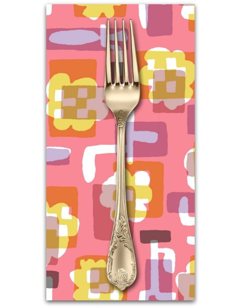 PD's Cotton + Steel Collection Safari, Flower Box in Coral, Dinner Napkin