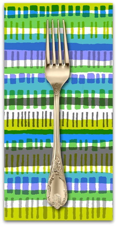 PD's Cotton + Steel Collection Safari, Crossing in Blue, Dinner Napkin