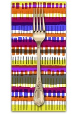 PD's Cotton + Steel Collection Safari, Crossing in Red, Dinner Napkin