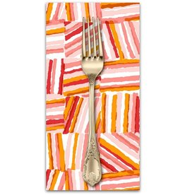 PD's Cotton + Steel Collection Safari, Stacks in Red, Dinner Napkin