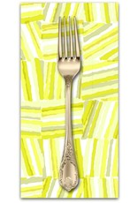 PD's Cotton + Steel Collection Safari, Stacks in Yellow, Dinner Napkin