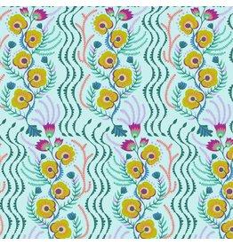 Anna Maria Horner Tambourine, Messages in Aqua, Fabric Half-Yards PWAH141